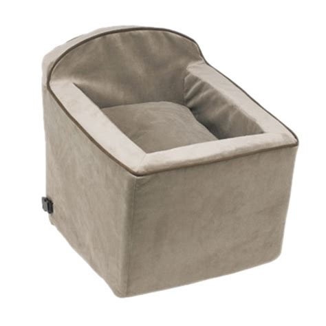 booster for dogs microvelvet car booster seat for dogs taupe boutique glamourmutt