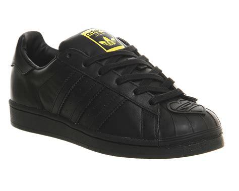 mens adidas superstar 1 pharrell black mono shell toe