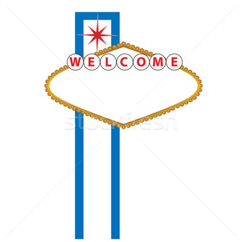 welcome to las vegas sign template blank las vegas sign vector illustration 169 soleilc