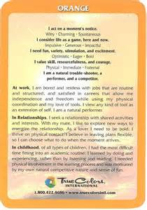 true colors orange true colors personality assessment