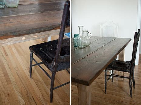 how to create a rustic farmhouse dining table from an