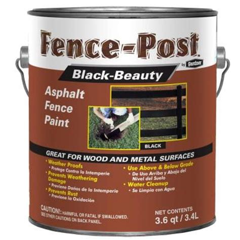 gardner 1 gal black asphalt fence paint 9001 ga the home depot