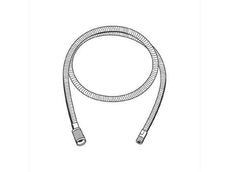 grohe kitchen faucet replacement hose grohe america 46092000 starlight chrome replacement hose