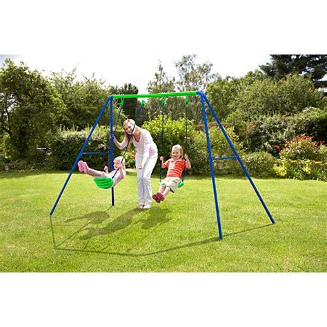 asda garden swing double swing outdoor play asda direct