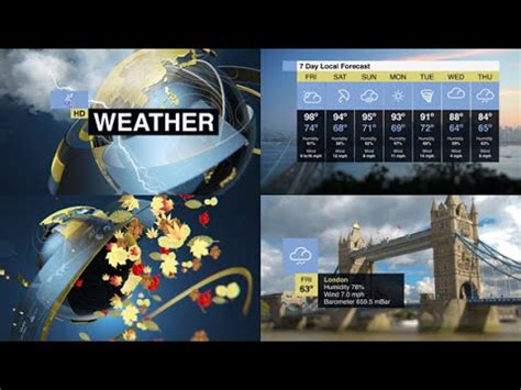 After Effects Template Weather Forecast Pack Youtube After Effects Weather Template