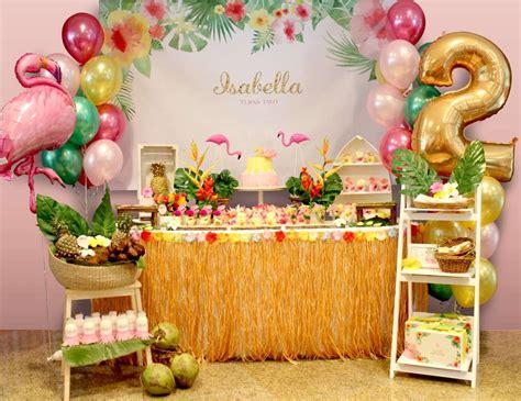birthday themes hawaii hawaiian flamingo birthday quot isabella s party quot flamingo
