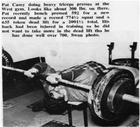 bill kazmaier bench press the tight tan slacks of dezso ban triceps power cheats
