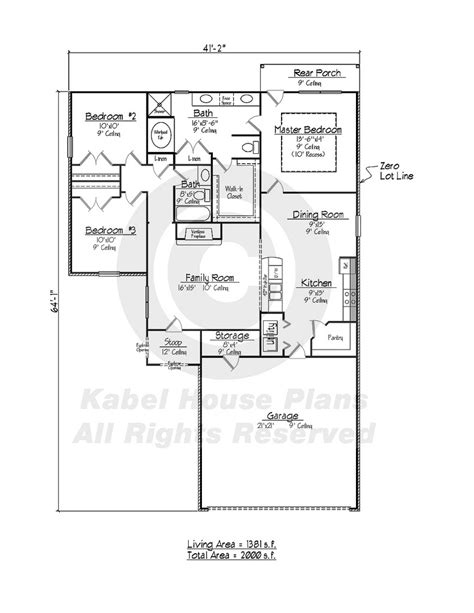house plans and design modern zero lot line house plans