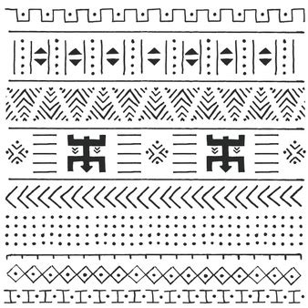 Black Mix Tribal Exvlusive lines vectors photos and psd files free