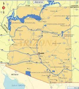 map arizona state arizona facts and symbols us state facts