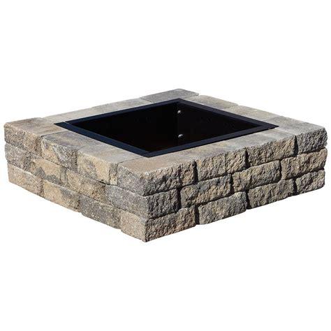 home depot square pit pavestone splitrock 38 5 in w x 10 5 in h square