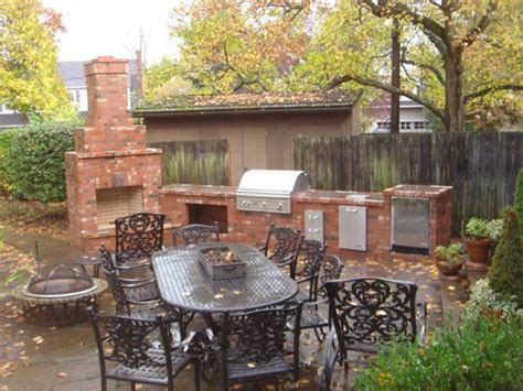 backyard brick grill outdoor living outdoor fireplace portland masonry