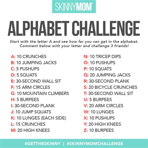 printable alphabet exercise exercise through the alphabet exercises workout and