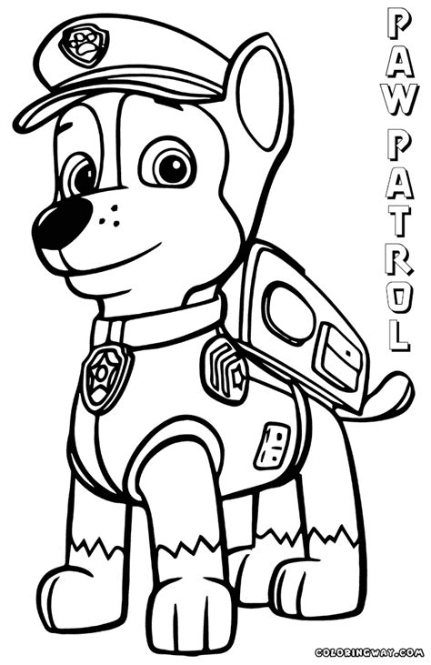 coloring pages of chase from paw patrol paw patrol chase coloring pages az coloring pages