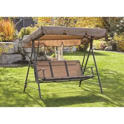 3 person patio swing porch swing 3 person canopy 653447 patio furniture at