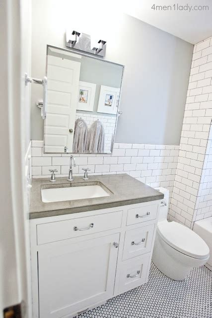 decordots white and grey bathroom perfect place for a concrete countertop the bathroom
