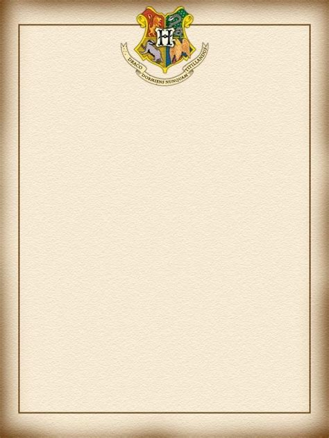 Harry Potter Letter Template Templates Station Free Letter Background Template