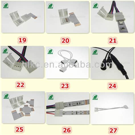 led strip light cable led strip light connector 5050 rgb l led connector with