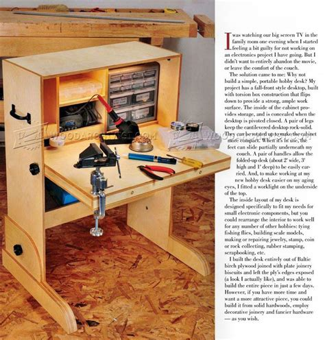 hobby bench plans woodworking plans l desk