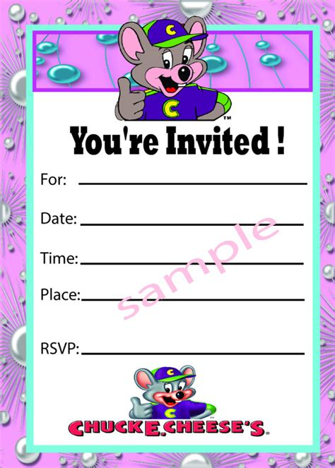 printable birthday invitations chuck e cheese unavailable listing on etsy