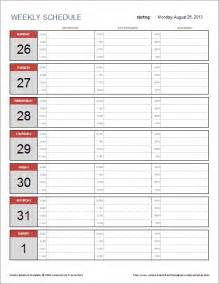 Excel Template Weekly Planner Free Weekly Schedule Template For Excel
