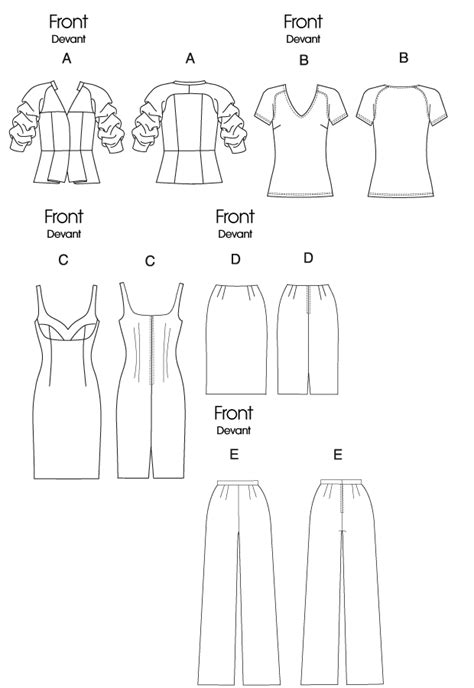 pattern review template vogue patterns 8718 misses jacket top dress skirt and