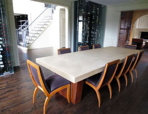 concrete dining room table custom concrete dining room table by trueform concrete