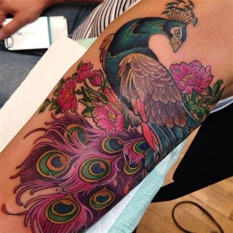 peacock sleeve tattoo best 25 peacock sleeve ideas only on