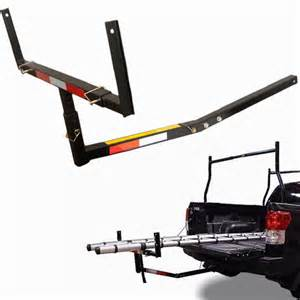 up truck bed hitch extender extension rack ladder