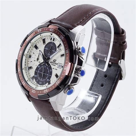 Edifice 539 Kulit harga sarap jam tangan edifice efr 539l 7bv kulit coklat tua