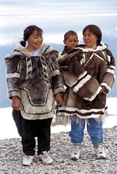 Inuit traditional clothing and kamiits all things quebec