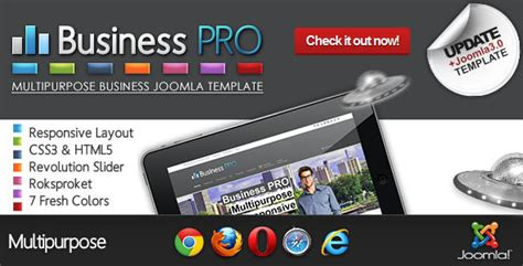 business pro clean responsive joomla template by dhsign