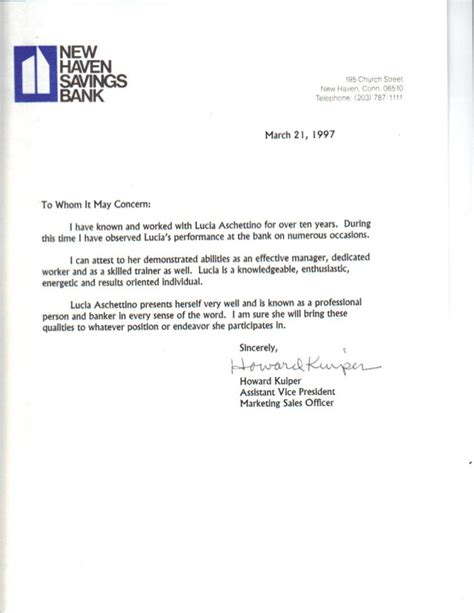 Recommendation Letter Marketing Reference Letter H Kuiper Avp Marketing Nhsb