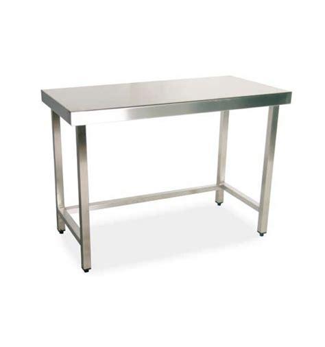 mesas de acero inoxidable para cocina mesa central de acero inoxidable sin estante inferior y