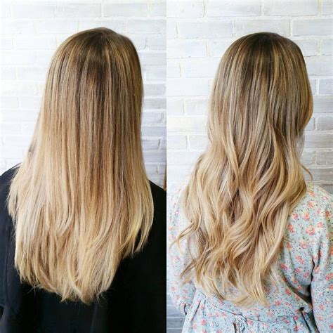 wear hair curly or straight curly vs straight a balayage should always have a