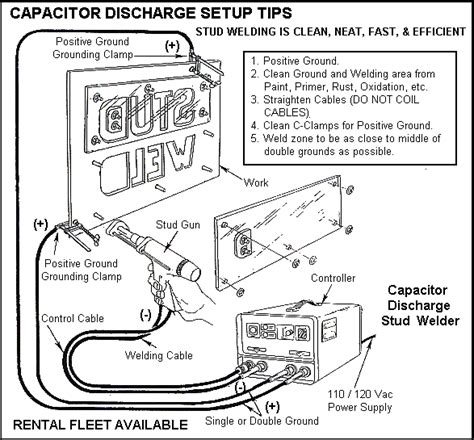 capacitor discharging techniques cd stud welding setup