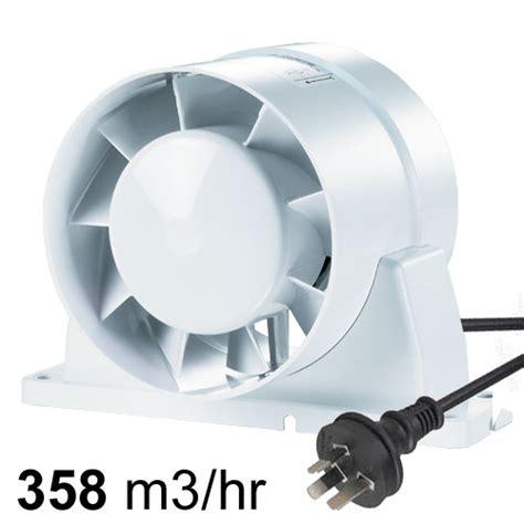 plug in exhaust fan axial vko in line fan 150mm w lead plug pure ventilation
