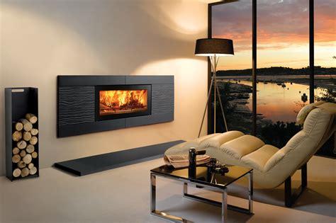 camini incassati studio ceramica wave wood burning inset fires