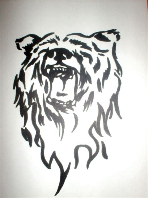 tribal bear tattoo designs tribal pictures to pin on tattooskid