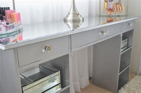 how to build a vanity desk modern bohemian lifestyle diy mirrored vanity
