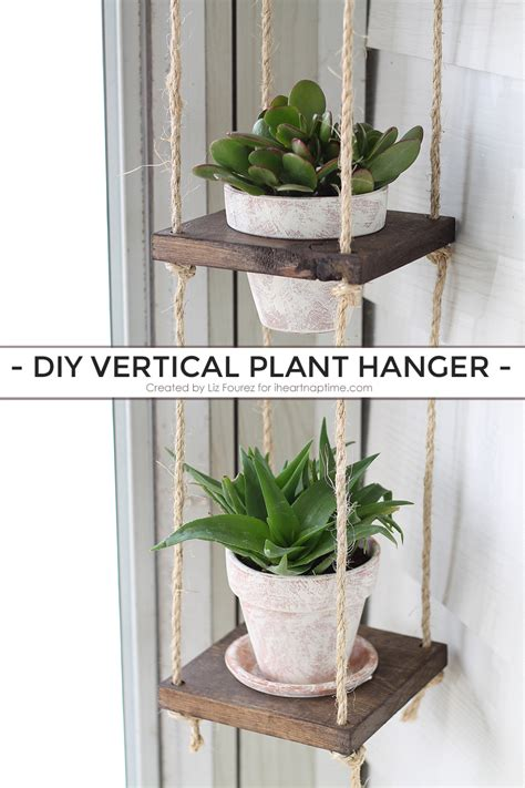 How To Make A Plant Holder - diy vertical plant hanger i nap time