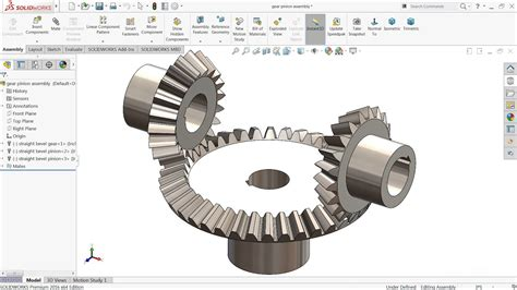 solidworks tutorial helical gear solidworks tutorial bevel gear and pinion mechanism in