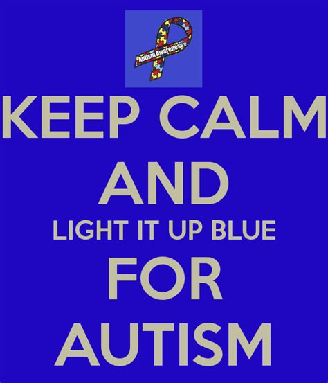 light it up blue keep calm and light it up blue for autism poster