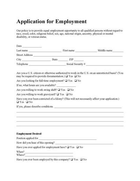 20 best images about employment applications on