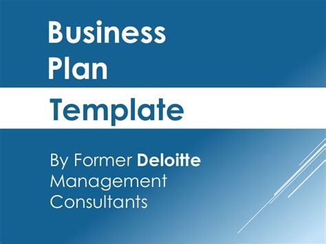 business plan ppt template business plan template created by former deloitte
