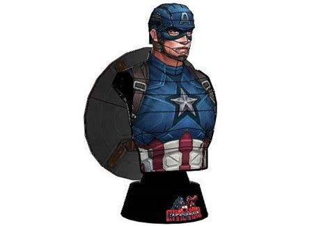 Captain America Papercraft - papercraftsquare new paper craft marvel comics