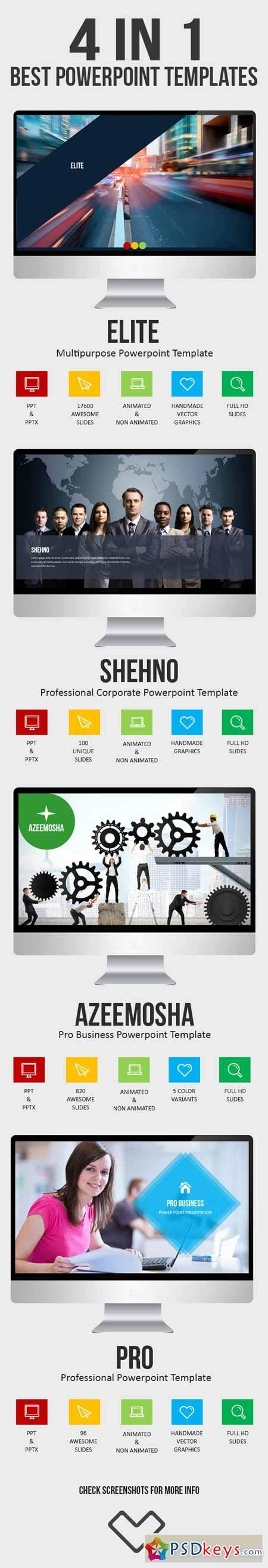 Template Powerpoint 4 In 1 Business Powerpoint Bundle 4 in 1 powerpoint bundle 10762022 187 free
