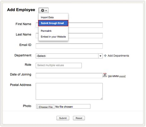 creating entry data form using zoho creator gt gt 19 nice