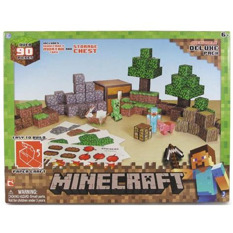 Minecraft Papercraft Sets - minecraft papercraft overworld deluxe toys