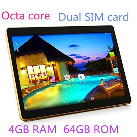 10 1 inch tablet android 6 0 gps octa 2560x1600 ips bluetooth ram 4gb rom 64gb 13 0 mp 3g